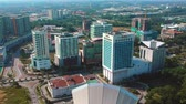 Kuala Lumpur, Malaysia - January 27, 2018: Aerial footage of Grand Bluewave Shah Alam hotel located in Shah Alam. The building is a full luxury of a 5-star business hotel in the heart of Shah Alam Dostupné videozáznamy