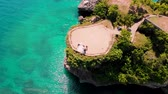 Aerial view of Balis cliff taken at Balangan Beach