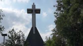 dominação : Large cross in Romania Stock Footage