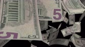 transparente : Falling Dollars  Video Effect simulates Falling 5 dollars banknotes with alpha channel in 4k resolution