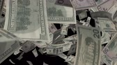 kanál : Falling Dollars  Video Effect simulates Falling Mixed dollars banknotes with alpha channel in 4k resolution