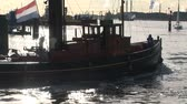 holandia : Historic small Dutch tug-boat underway, The Netherlands  Wideo