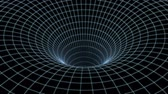 portal : Abstract speed tunnel warp in space, wormhole or black hole, scene of overcoming the temporary space in cosmos. 3d rendering Stock Footage