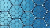 atomik : Graphene atom nanostructure loopable animation. Nanotube in form of honeycomb. Concept Nanotechnology and sciences