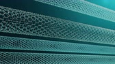 tubular : Nanotechnology like scientific background. Hexagonal nanotubes. Graphene atom nanostructure, carbon nanotubes, durable material. Nanotube in form of honeycomb, Loop-able seamless 4K animation
