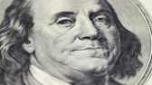 franklin : Dollars and Euro Banknotes Rotate Stock Footage