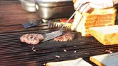 charbroiled : Meat steak prepared on the grill.