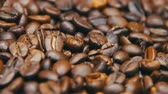 Coffee Beans Rotate Stok Video