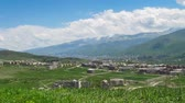 tableland : Landscape View of the City in the Mountains of Armenia. Time Lapse Stock Footage