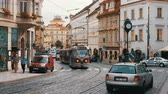estreito : Czech Tram Rides through the Old City of the Czech Republic, Prague