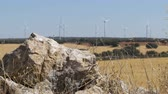 tucson : Wind Turbines on a Background of Stone in the Desert of Spain