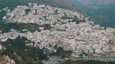 salvador : Panoramic view from above of a white village in the mountains of Spain.