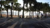 triunfar : POV view on Riding on a motorbike along the Asian embankment of Jomtien. Thailand. Pattaya Stock Footage
