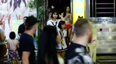 стриптиз : Prostitutes on Pattaya Walking Street is red-light district. Thailand. Night life and sexual entertainments