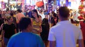 неон : Prostitutes on Pattaya Walking Street is red-light district. Thailand. Night life and sexual entertainments