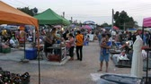 ült : Flea market in Asia. People walk around the market of second-hand goods. Thailand. Pattaya