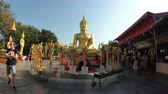 азиатский : Temple of Big Golden Buddha, Pattaya. Thailand Стоковые видеозаписи