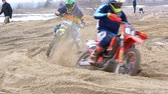 кнут : Motocross. Off-road racing on enduro bikes. Slow motion