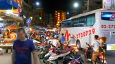 азиатский : Road Traffic in Pattaya Street at Night, Thailand