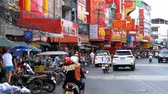 red traffic light : Road Traffic and Markets in Street of Pattaya, Thailand