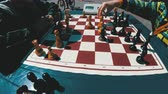 verificador : Chessboard and figures. Competitions in checkers among children
