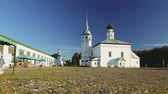 Covered with stone blocks trading area of the ancient city of Suzdal