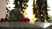 Eternal flame on the monument to unknown soldier of World War II.