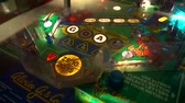 Vintage Pinball Montage of bumper hits, spinners, lights and bonuses