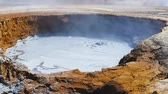 кратер : Boiling mud at geyser in Hverir, Iceland
