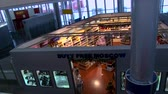 parfém : RUSSIA, MOSCOW, SHEREMETYEVO AIRPORT: 27.12.2016: empty duty free shop, top view