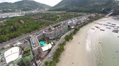 establishing shot : City by the sea. Establishing Shot. Flying over the city and the beach. Phuket. Patong. Thailand. Stock Footage