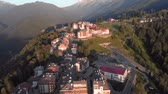 Panorama of the Village in the resort Rosa Khutor. Sochi, Russia.