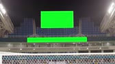 Scoreboard at the Football Stadium with a Green Screen Stock mozgókép