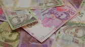hryvnia : Money rotate on the table. Denominations The overall plan Hryvnia.