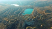 яма : Flight Over the Manganese Ore old Quarry and on Excavators