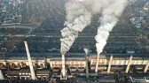 polluting : Smoke pipes TPP. Aerial