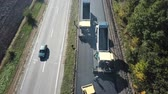 obnova : Ukraine, Dnipro - October 11, 2018: Repair pavement on the highway