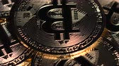 e commerce : Bitcoin coins spin on the table