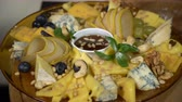 blueberry : Cheese Slices with Nuts, Honey and Fruits