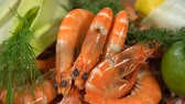 dill : Shrimps with spices and citrus