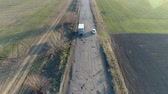 exposto : Pothole road. Aerial survey Vídeos