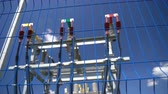 altyapı : High voltage transformer equipment in a solar power station