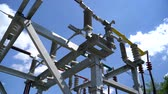 transformatör : High voltage transformer equipment in a solar power station