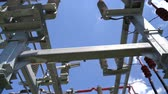 cable electrique : High voltage transformer equipment in a solar power station