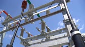 ワッツ : High voltage transformer equipment in a solar power station