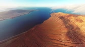 grande angular : 360 degrees panorama near Mirador del Rio viewpoint, Lanzarote, Canary Islands, Spain