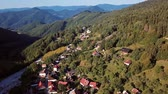 Словакия : Flying over picturesque historic village Spania Dolina, Slovakia