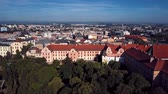Aerial view of Olomouc old town, Moravia, Czech Republic. Vídeos