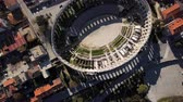 Aerial view of Roman amphitheatre in Pula. Istria, Croatia.