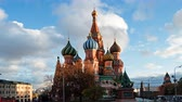 stadtplatz : Time lapse Saint Basils Cathedral (Cathedral of Vasily the Blessed), Moscow, Russia.